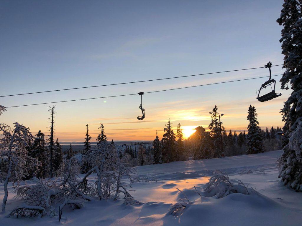 Alpinskidåknig i Klövsjös fina backar.